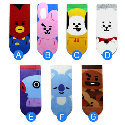 7 Pairs Set Fashion Socks Cute Socks K-pop Boys Character Socks MADE IN KOREA