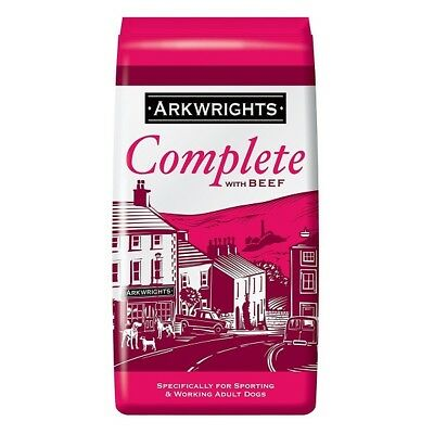 Arkwrights Adult Beef Complete Dog Food 15kg for Sporting, Racing & Working Dogs