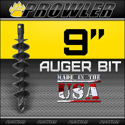 9 Auger Bit With Round Collar For Skid Steer Loaders 4 Length - 9 Inch