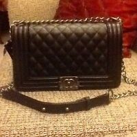 Chanel Black Le Boy Messenger Bag - Delivery Available