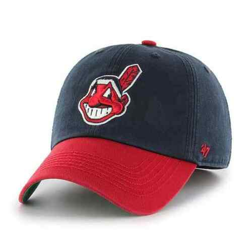 CLEVELAND INDIANS MLB FITTED CHIEF WAHOO LOGO FRANCHISE HAT/CAP