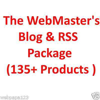 The Webmasters Blog Rss Package135 Products-with Resell Right-build Website