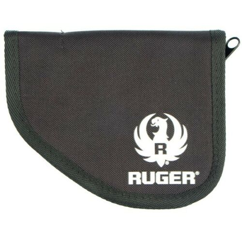 Ruger LCP Compact Pistol Black Nylon Ambidextrous Pocket Holster Zipper Case