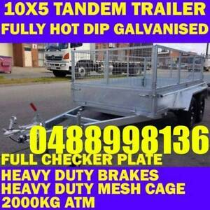 10x5 galvanised tandem box trailer with cage brakes 70x50 chassis sa