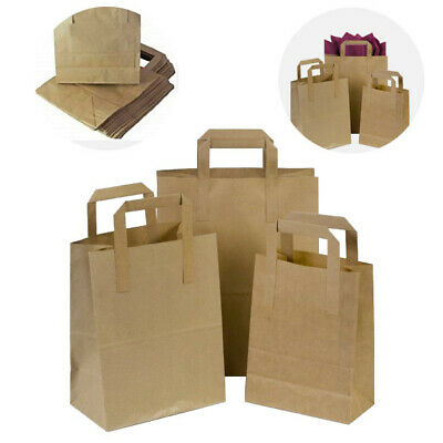 SOS Paper Bags x 250 Brown Kraft Paper Storage Bags 10x12x6 Large Carrier Bags