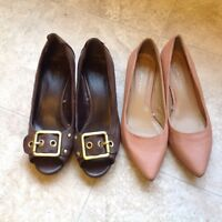 Two pairs of new shoes for $5, two for $5