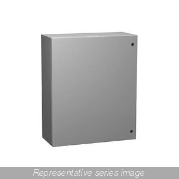 "Hammond EN4SD242412GY Electrical Grey Enclosure 24"" x 24"" x 12"" - NEW Surplus!"