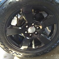 "BRAND NEW 20"" GMC SEIRRA FACTORY BLACK WHEELS"