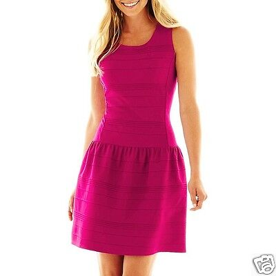Pintuck Kleid (Worthington Ärmellos Pintuck Kleid Polynesische Rose GRÖSSE S,M,XL Msrp)