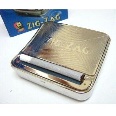 Zig Zag TIN Automatic Cigarette Tobacco Rolling Machine Box 70mm Roller Roll