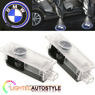 PAIR OF BMW LED CAR DOOR LOGO LIGHT GHOST SHADOW PROJECTOR LASER WELCOME PUDDLE