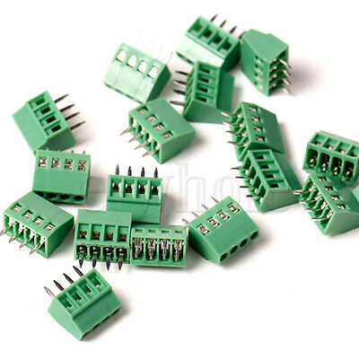 5x 4-way 4 Pin Screw Terminal Block Connector 2.54mm Pitch Pcb Mount Dg