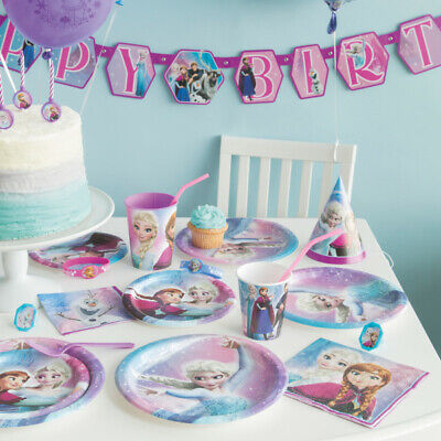Frozen Party Pack 82 PIECE SET Plates, Cups, Napkins, Banner, Tablecover  NEW!!!