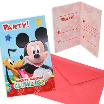 Mickey Maus Einladungskarten, 6er Pck ()