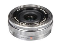 Olympus M ZUIKO ED 14-42mm f/3.5-5.6 EZ lens (silver)