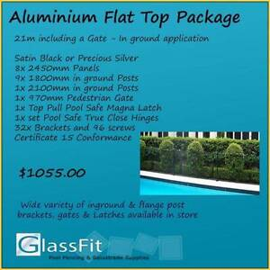 Aluminium Flat Top – In ground - 21m Package Inc. Gate Yatala Gold Coast North Preview