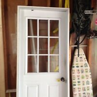 """32"""" door with frame and brick mould"""
