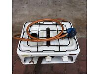 Calor gas camping stove with grill
