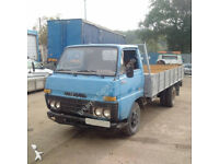 Left hand drive Toyota Dyna BU30 / 300 3.0 diesel 6 tyres truck.