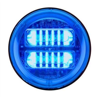 Whelen Round Tir6 Blue Extended Lens - Blue Led - 2eb00zbr Blueblue