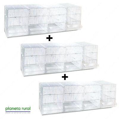 3 x Jaula de Cría para Pájaros Metro Pedros Blanca SIN PATAS
