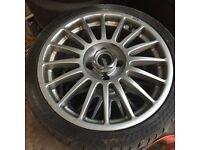 17 inch Tsw alloys off a ford Sierra with 4 good tyres