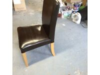 IKEA Henriksdal dining chair, dark brown leather