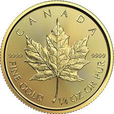 1/4 oz Gold 2018 Maple Leaf Coin - 2018 .9999 RCM - Royal Canadian Mint