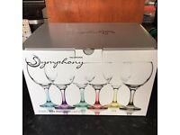 Brand new set of 6 wine glasses £12