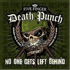 Five-Finger-Death-Punch-No-One-Gets-Left-Behind-Limited-Ed-Numbered-Green-7Inch