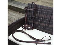 Padded flash bridle with reins