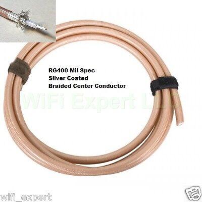 1 foot RG400 M17/128 MIL-DTL-17 RF Double Shield Coaxial cab