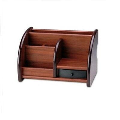 Wooden Officehome Supplies Desk Pen Storage Box Stationery Holder Organizer