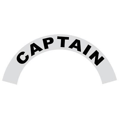 Captain Black Helmet Crescent Reflective Decal Sticker