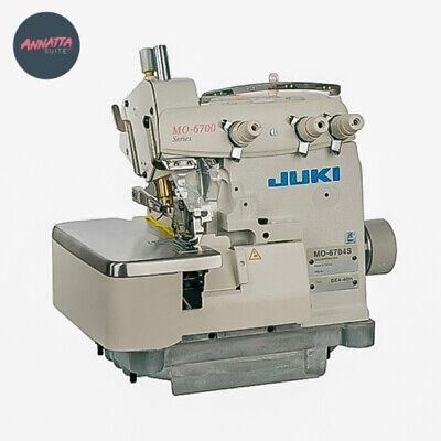 Juki Mo-6704s Industrial 3-thread Overclock Sewing Machine W Table Motor
