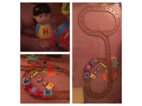 Happyland train set and extension pack