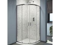 Bathroom Quadrant & Offset Quadrant Shower Enclosures. Tray & Waste included.