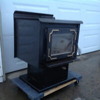 Wood Stove and Stainless Chimney