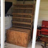 Antique bird crates.