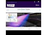 Justin Bieber ticket 1x