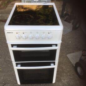 Beko 50 cm electric glass top cooker