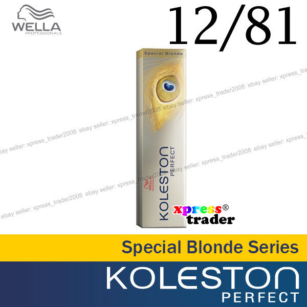 "Wella Koleston Perfect Permanent Hair Color Dye 60g Special Blonde "" 12/81 """