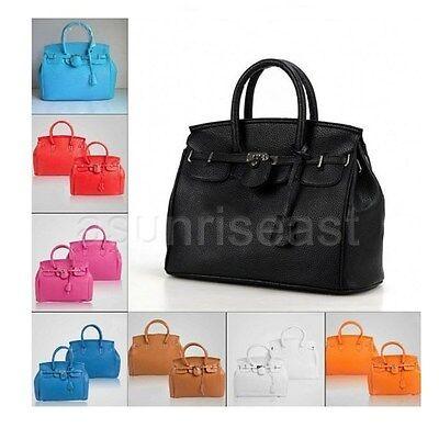 Fashion Celebrity Candy Tote Handbag Lock Shoulder Satchel Bag Womens