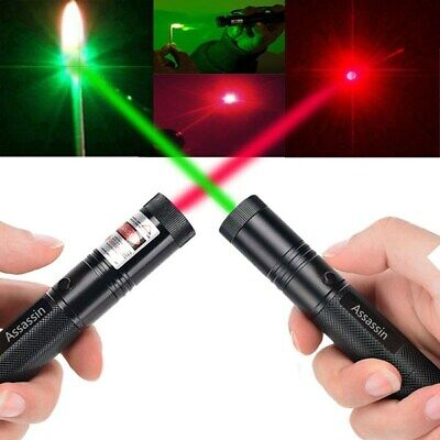 2x 900miles 650nm/532nm Red&Green Laser Pointer Pen Astronomy Beam Torch Light