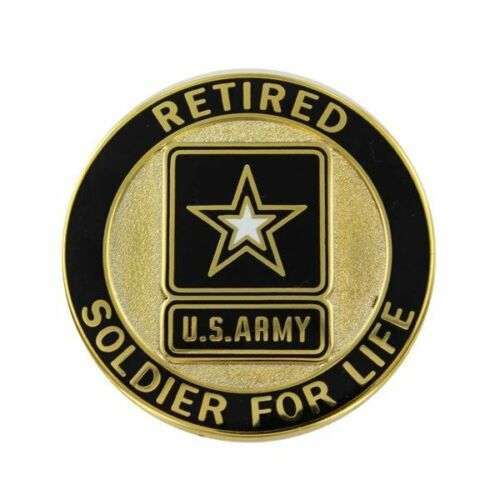 GENUINE U.S. ARMY IDENTIFICATION BADGE: SOLDIER FOR LIFE - RETIRED