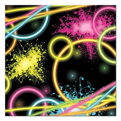 Glow Party Neon Birthday Party Supplies Small Napkins