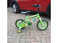 Young child's two wheel bike