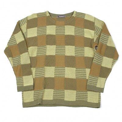 ISSEY MIYAKE MEN Block Plaid Knit Size M(K-43043)