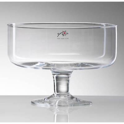 Glasschale, Dekoschale BOWL auf Fuß H. 17,5cm D. 24cm rund Sandra Rich