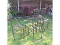 Bespoke metal garden table with four chairs